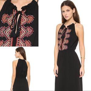Madewell Embroidered Beaded Kilim Maxi Dress sz 2